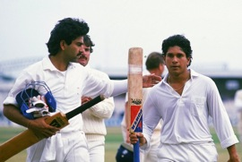 Sachin Tendulkar scoring his first test century in 1990 against England