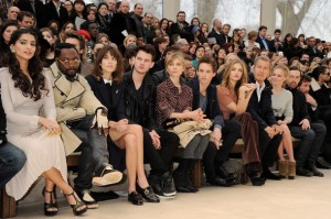 The front row at the Burberry 2013 fashion show